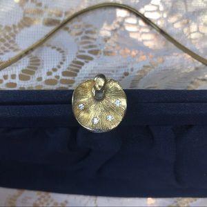 Bobbie Jerome navy blue & gold purse